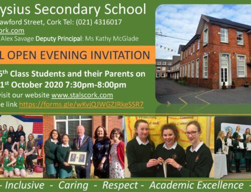 Open Evening Invitation 2020